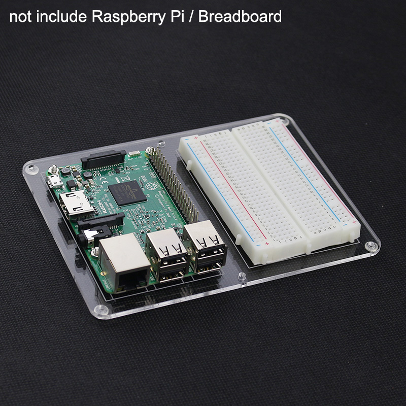 Raspberry Pi 3 B+ Model B Breadboard Mounting Plate Acrylic Board DIY Prototype Experiment Plate For Raspberry Pi 3 Model B