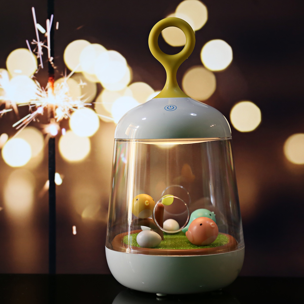 Children Night Light Colorful LED Night Lamp Touch Sensor Dimmable Micro Landscape Music Box LED USB Rechargeable Night Light