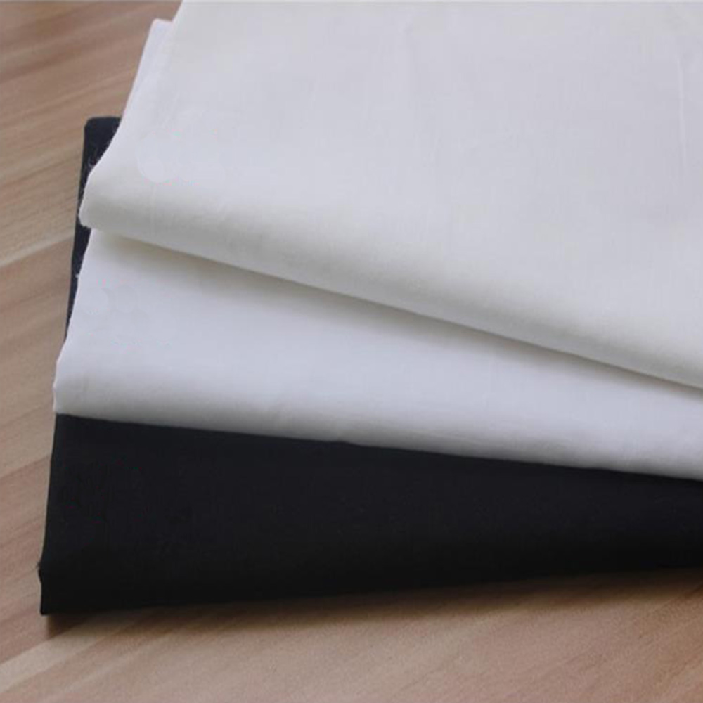 50 150cm white black cotton fabric meter patchwork bundle for Cloth material for sewing