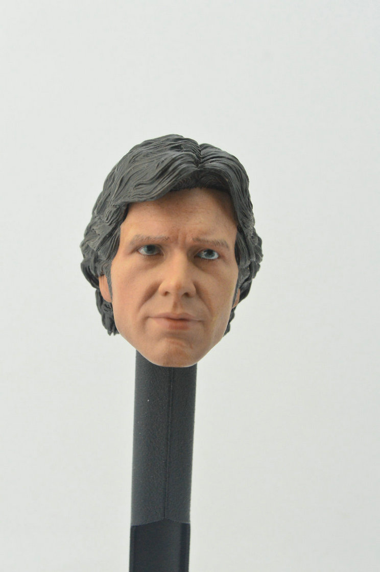 """1//6 Scale Harrison Ford Han Solo Head Sculpt HW//O Neck For 12/"""" Action Figure"""