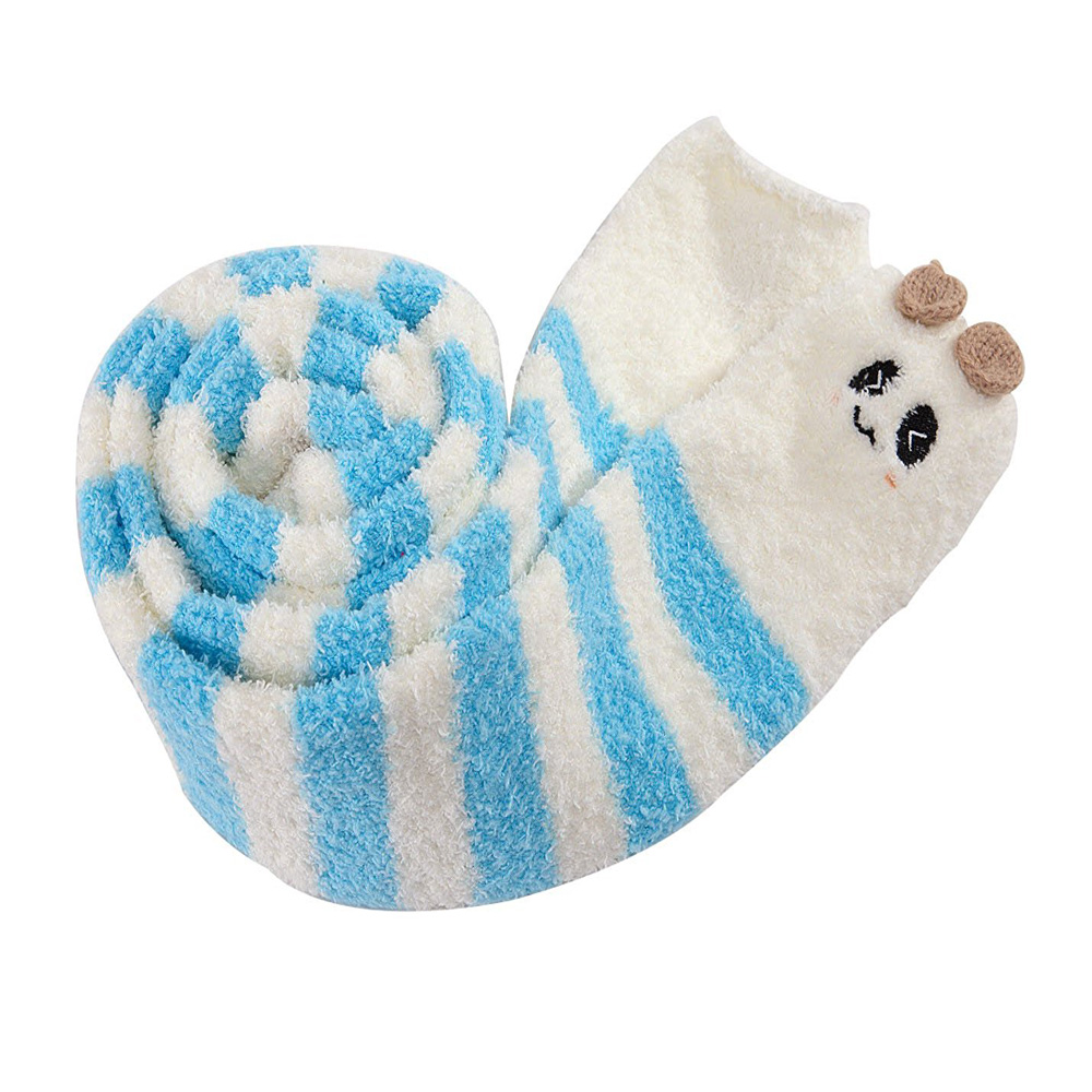 Image 4 - Adult Cute Animal Coral Fleece Thigh High Long Striped Socks Abdl ddlg Sissy Kink Little Space Ageplay SocksStockings   -