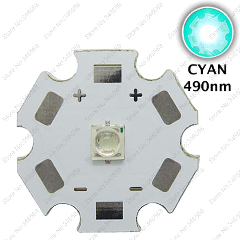 5pcs 3W 490nm - 495nm Cyan Color 3535 Epileds High Power s