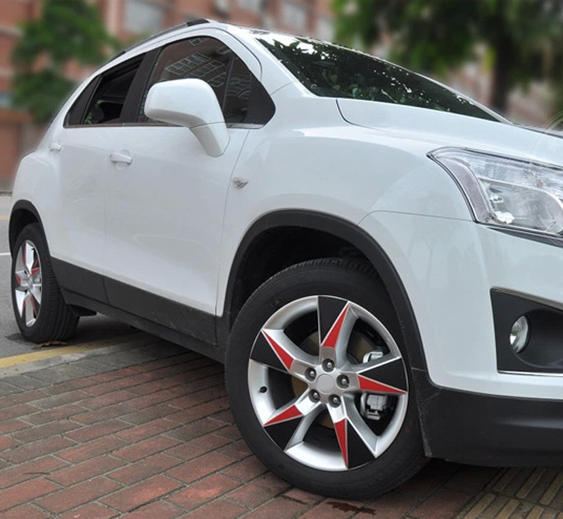 18 Inch Tires >> Us 10 56 52 Off 1set For Chevrolet Trax 4 Tires 18 Inch Car Wheel Hub Sticker Carbon Fiber Sticker In Chromium Styling From Automobiles
