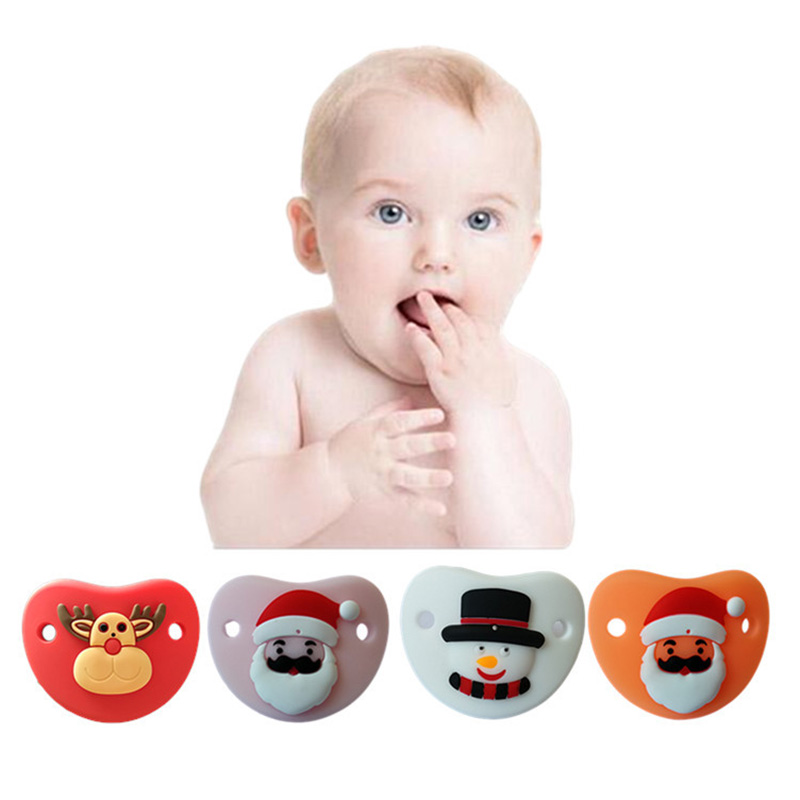 Baby Pacifiers Dummy Nipple Christmas Pacifier Toddler Silicone Cute Cartoon Pacifier New