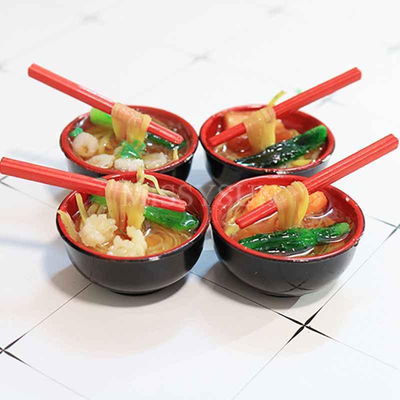1//6  Blythe Dollhouse Miniature shrimps noodle Bowl Food Toy