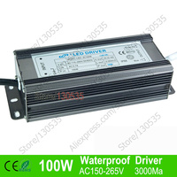 100W AC150 265V led Driver Waterproof Constant Current LED Lighting Transformers Driver 10W led Ball Power Supply free ship