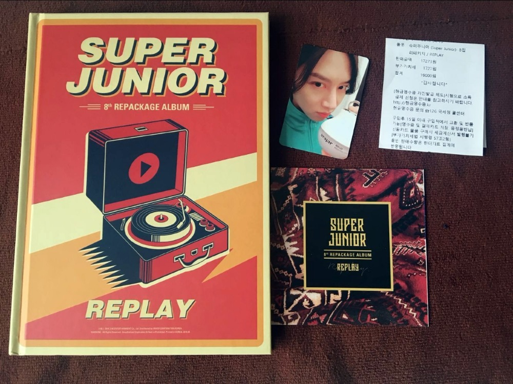 Signé S.J Super Junior autographiée reconditionner suivants album REPLAY normale ver K-POP 052018