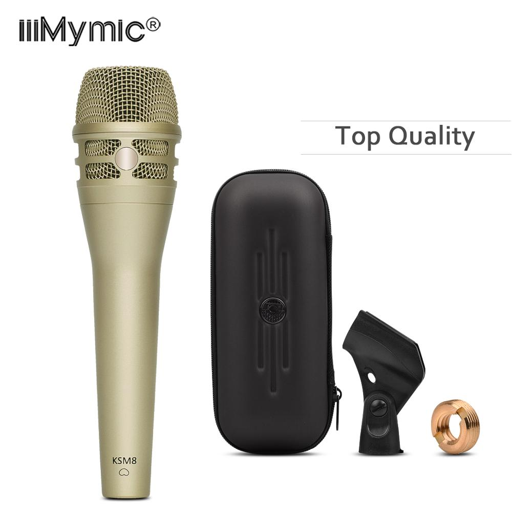 Micro filaire K8 de qualité supérieure!! Micro de Podcast dynamique Super cardioïde karaoké professionnel K8/C