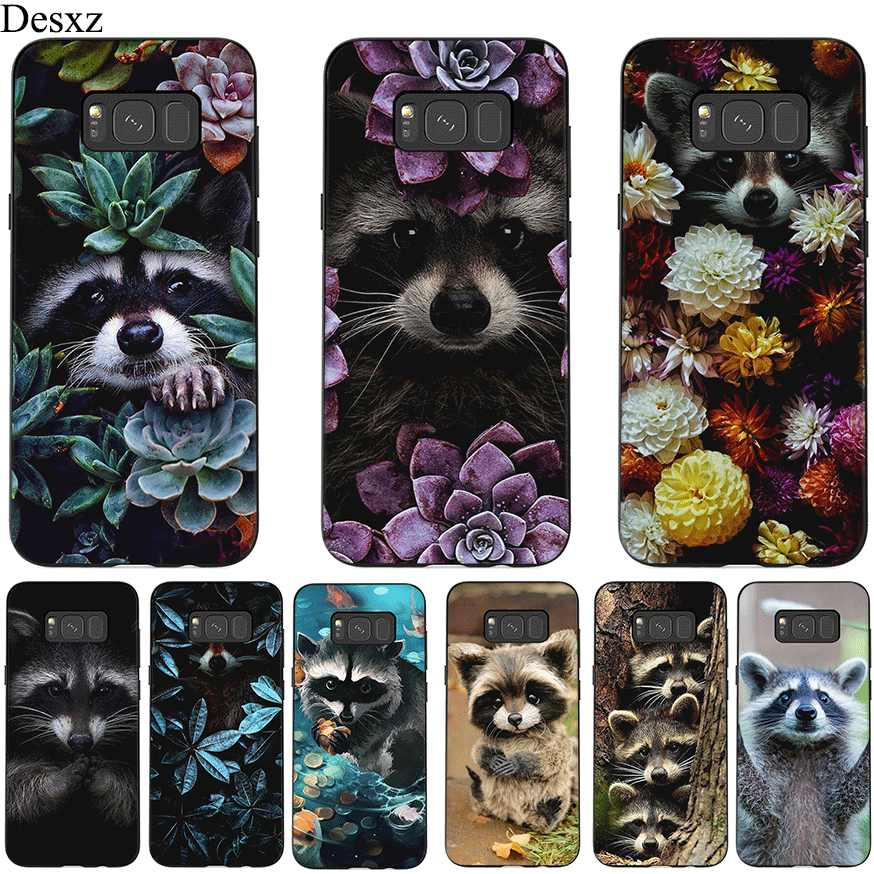 Desxz Silicone Mobile Phone Case For Samsung S6 S7 Edge S8 S9 S10E S10 Plus Cover Cute Little Raccoon Bag
