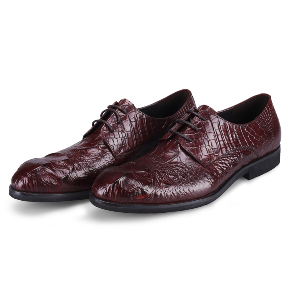 dc4b1adf7 Esculpido Oxford Até De Sapatos Brogue wine Marrom Homens Rendas Genuíno  Vestido Clássico Marca Inteiro Simples ...