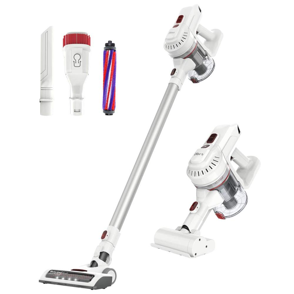 Dibea 12000Pa Powerful Suction Lightweight Rechargeable Lithium Ion Battery and LED Brush Cordless Stick Vacuum Cleaner