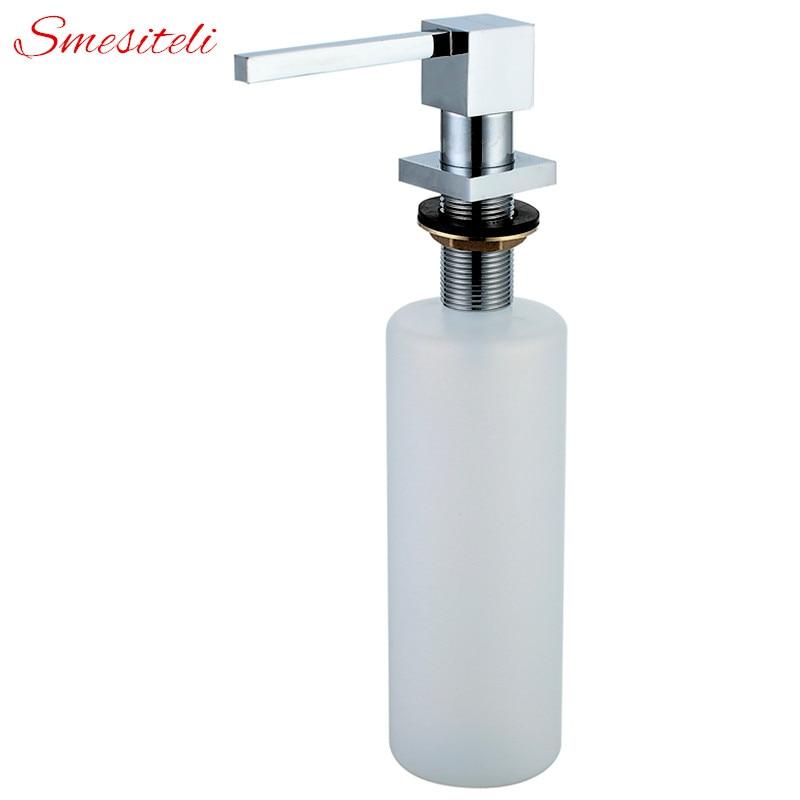Wholesale Promotion 5 Yr Warranty Polished Gold Sink Soap Dispenser Matt Black Countertop Liquid Dish Hand Silver Soap Dispenser