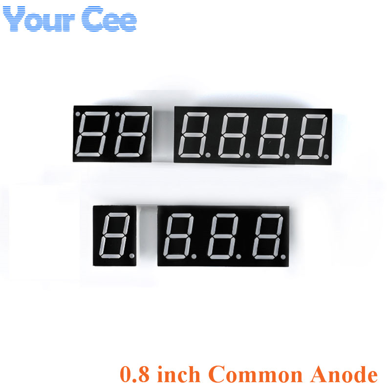 2pcs 0.8 Inch Display Clock Digital Tube Common Anode 0.8