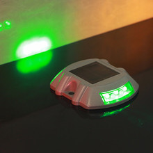 Solar Road  Light Cast Aluminum Warning Lights Indicator Lamp Double Sided 6LED Lure Guide Path Landscape Outdoor LED