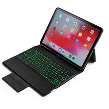 Loufu Bluetooth Wireless For iPad Pro 11 Keyboard Case With 7 Color Backlit Cover A1980 A2013