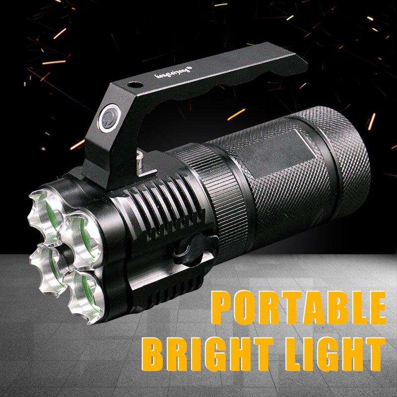HONGTAIYANG LED Projecteur 3800LM 5 Modèles Lumière lampe de Poche Étanche Camping Chasse Recherche de Lampe Lanterne