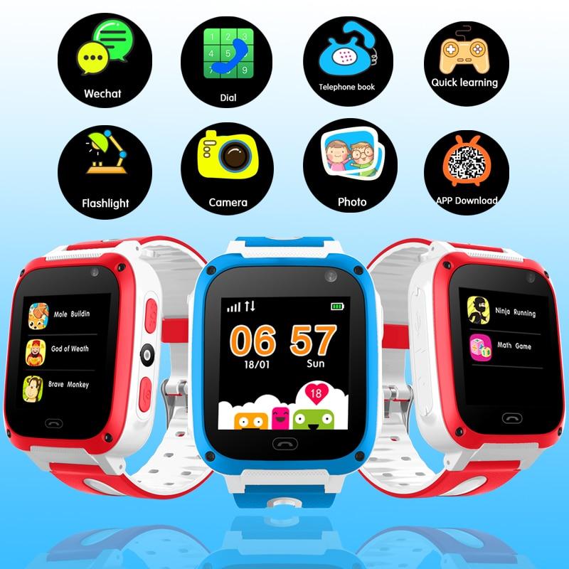 2018 LED-Farbbildschirm Kinder Smart Uhr Verbindung mobile APP LPS Positionierung Tracking SOS Notfall Telefon Sicherheitsuhr