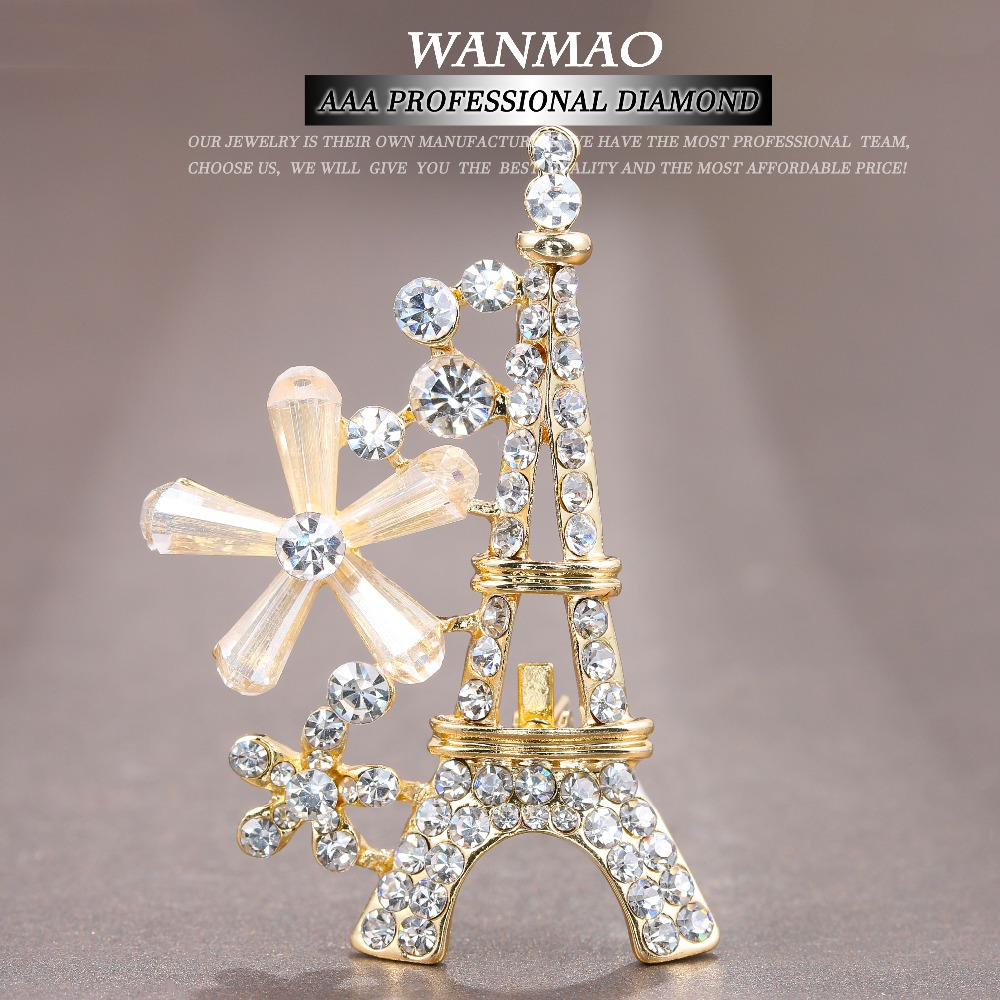 popular unique corsage buy cheap unique corsage lots from eiffel tower paris brooch crystal mosaic female zircon brooch unique exquisite gifts wedding souvenirs corsage jewelry