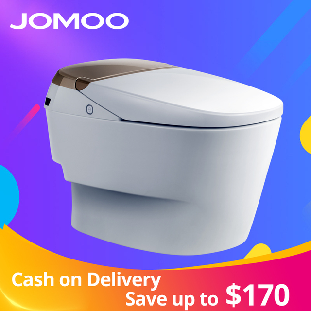 JOMOO Smart Toilet Auto-Operated Multi-Functions Elongate Electric Bidet Heat Sits Led Light Integrated Baby Training Chair