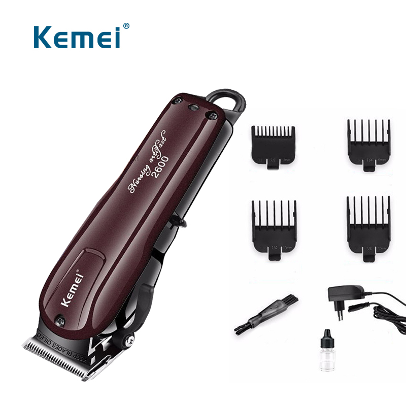 100-240 V kemei professionale dei capelli rasoio trimmer capelli elettrici potente rasatura dei capelli macchina taglio dei capelli rasoio EU spina