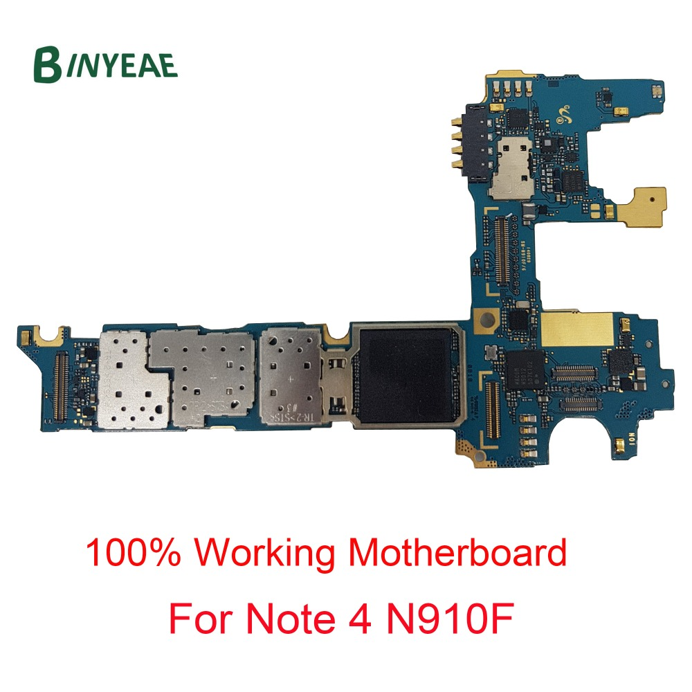 BINYEAE Replacement For Samsung Galaxy Note 4 N910F Unlocked Main Motherboard Clean Imei 32GB Testing GoodBINYEAE Replacement For Samsung Galaxy Note 4 N910F Unlocked Main Motherboard Clean Imei 32GB Testing Good