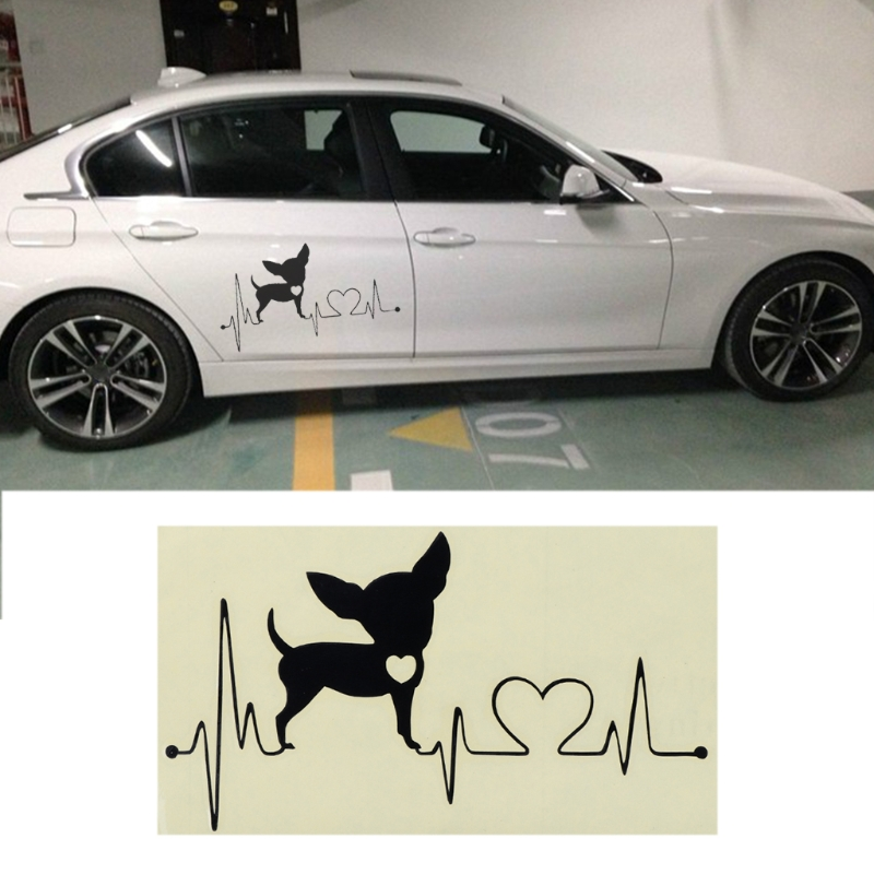 Seats & Benches Persevering 15x8.5cm Chihuahua Heartbeat Lifeline Vinyl Car Sticker Decal