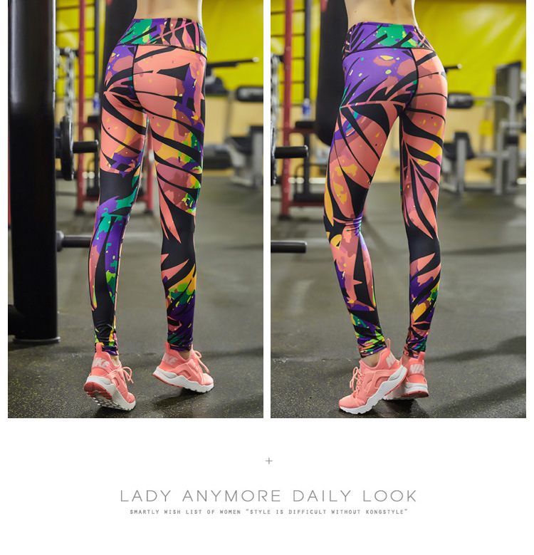 NEW Women Yoga Compression Sports Pants Elastic Wicking Force Exercise Tights Female Fitness Running Trousers Gym Slim Leggings