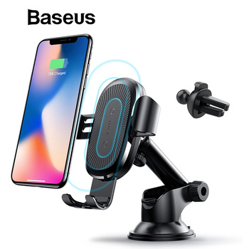 Baseus Qi Wireless Charger for Mobile Phone Car Phone Charger Fast Wirelss Charging Pad for iPhone XR XS X Mobile Phone Charger