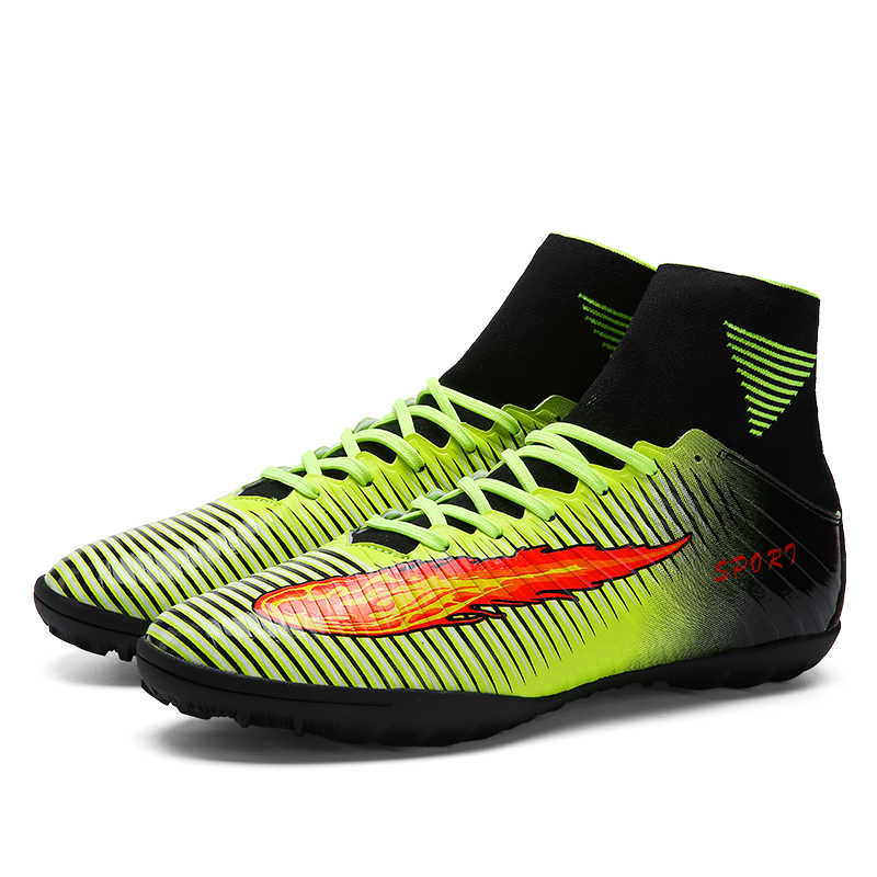 c075072e8d21 ... 2017 High Quality Cheap Indoor Soccer Shoes Cleats High Ankle Kids  Football Boots Superfly Original Boys ...