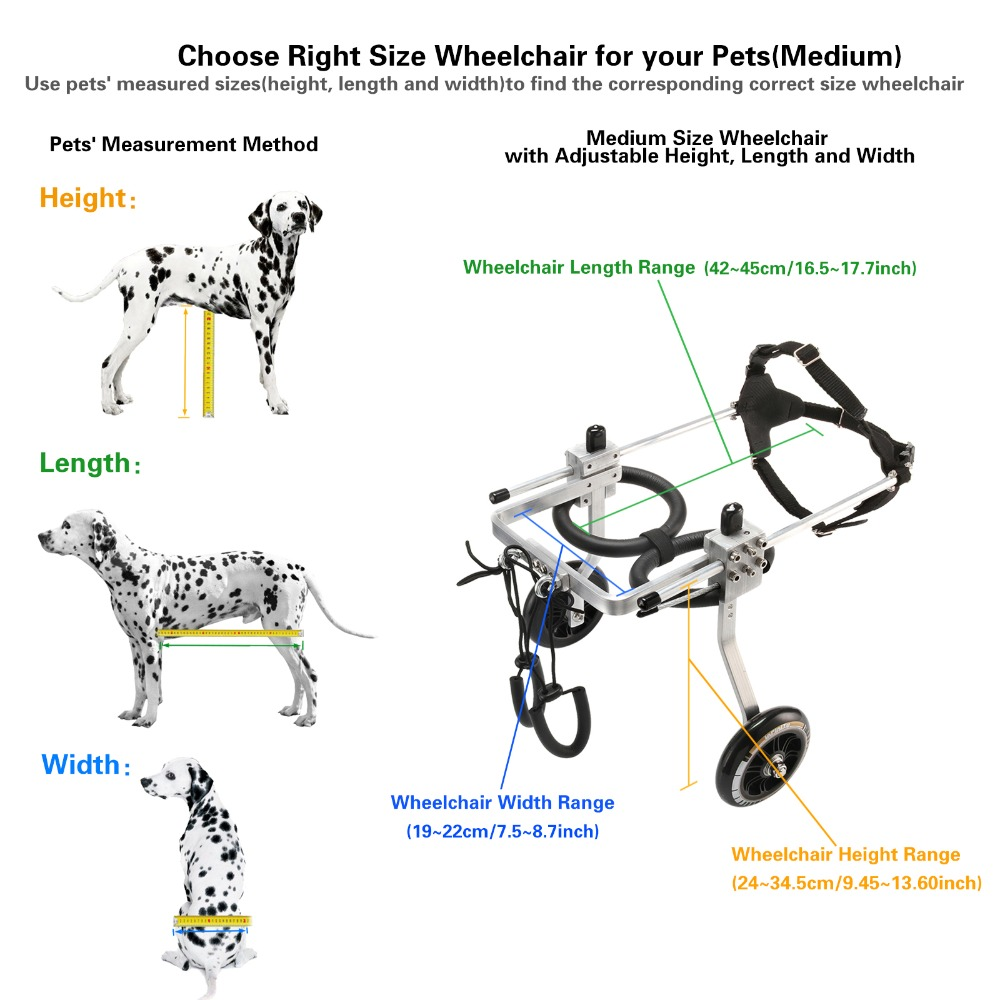 M taille chariot animal de compagnie/chien fauteuil roulant pour faire handicapé moyen chien/chien/chiot marche