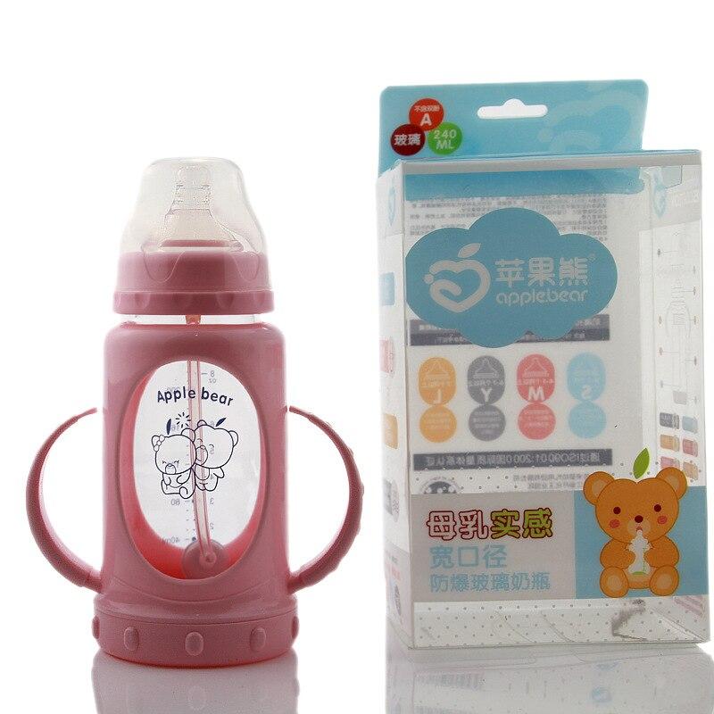 Bottle Manufacturer Newborn Wide Mouth Baby Drop Glass Wholesale 240ml