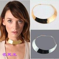 B5006 תכשיטים אמריקאים מוגזמת שרשרת קולר האופנה מתכת פאנק הילארי Tsui האן אש