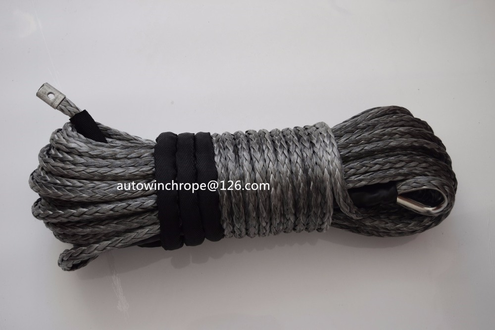 Free Shipping Grey 12mm*30m Synthetic Rope,Replacement Winch Cable for Electric Winches,Off road Rope