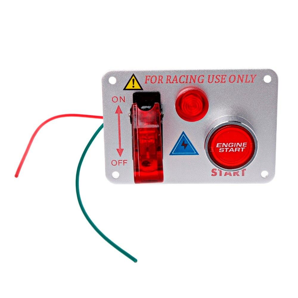 bouton poussoir start Panneau de commutateur d/'allumage couvercle rouge
