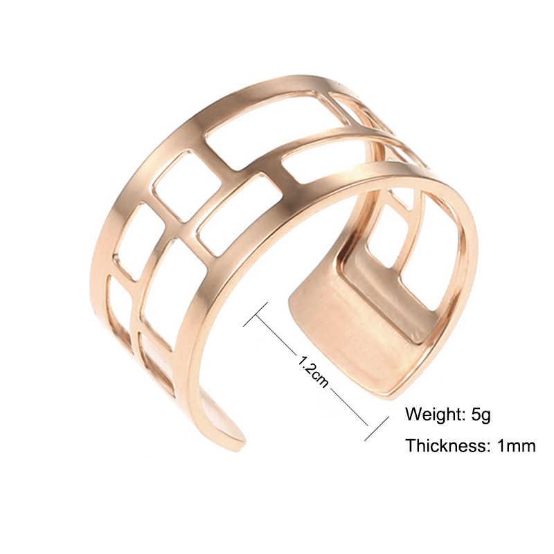 Legenstar безразмерное кольцо на палец для женщин розовое золото цвет нержавеющая сталь Реверсивные кожаные Регулируемые кольца юбилейные ювелирные изделия Новинка