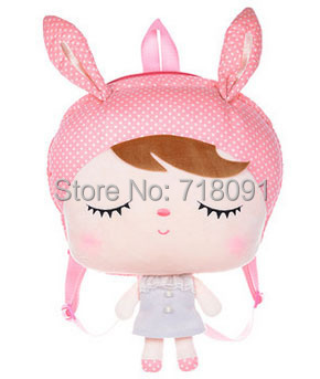 Metoo Big Head Backpack For Kid's Gifts,Stuffed Toy Angela Bag,30x39CM,1PC