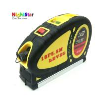 18FT Laser Level Horizon Vertical Measure 5 5m Aligner Standard And Metric Ruler Multipurpose Measure Level