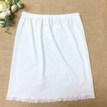 2018 autumn white satin underskirt half slip women sexy short underdress petticoat ladies black slips skirt
