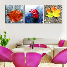 2016 Real Rushed No Wall Art Fallout Unframed 3 Piece And Leaves Modern Home Decor Canvas Picture Print Painting On