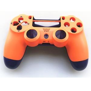 Image 2 - Custodia Set completo di Riparazione delle coperture pulsanti Caso Per Il DualShock 4 PlayStation 4 PS4 Pro jds 040 JDM 040 Copertura del Controller Arancione blu