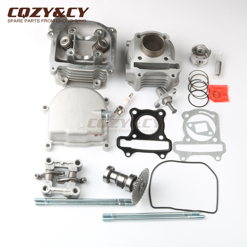 Scooter 39mm Cylinder Kit & NON EGR Cylinder Head & Piston kit for REX Capriolo 50 RS 400 450 460 <font><b>500</b></font> 900 QM50QT-6A <font><b>10A</b></font> GY6 4T image