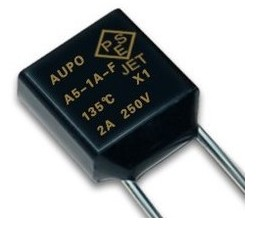 AUPO A5-1A-F 135 -degree Temperature Fuse VDE UR PSE  Certification Albemarle