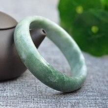 Прямая Высокое качество дешевле натуральный зеленый нефрит Браслеты круглые браслеты для женщин ювелирные украшения
