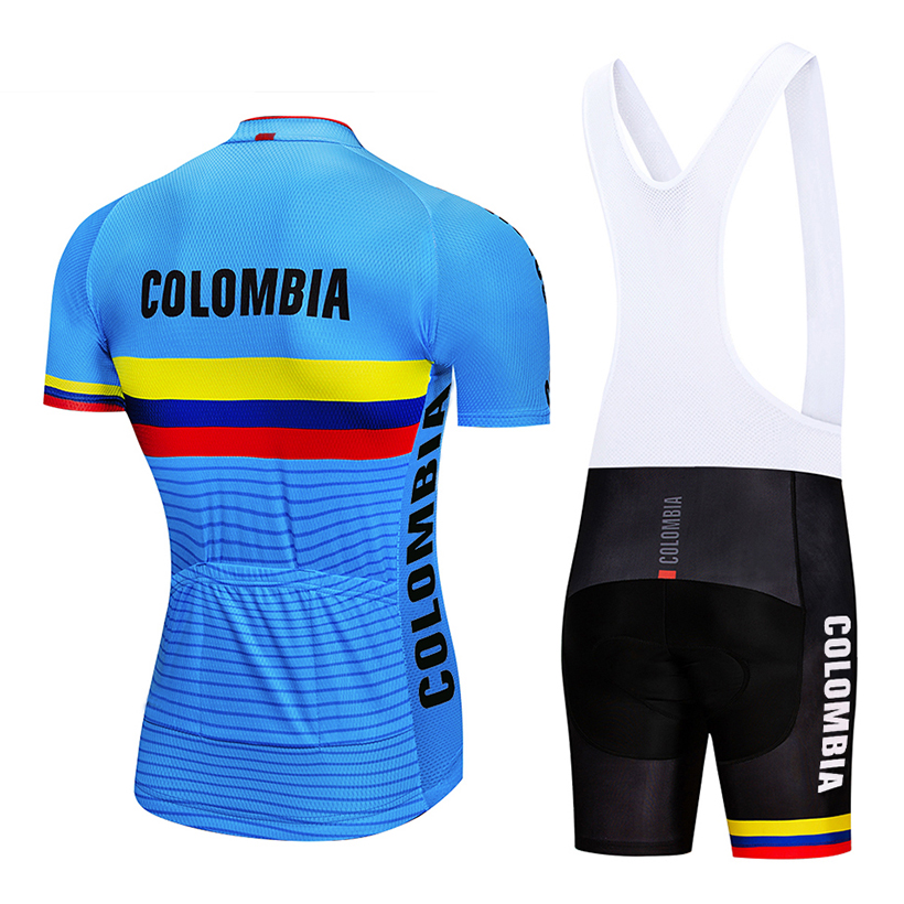 Image 4 - Crossrider 2019 Blue Colombia Cycling Jerseys Set MTB Shirt Bike Clothing Breathable Bicycle Clothes Men's Short Maillot Culotte-in Cycling Sets from Sports & Entertainment