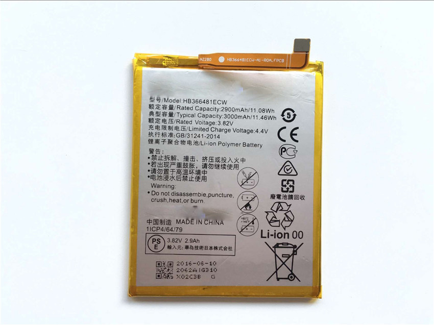 For Huawei P9 Battery 100% New High Quality HB366481ECW 2900mAh Back up Battery Replacement For Huawei P9 Smart Phone