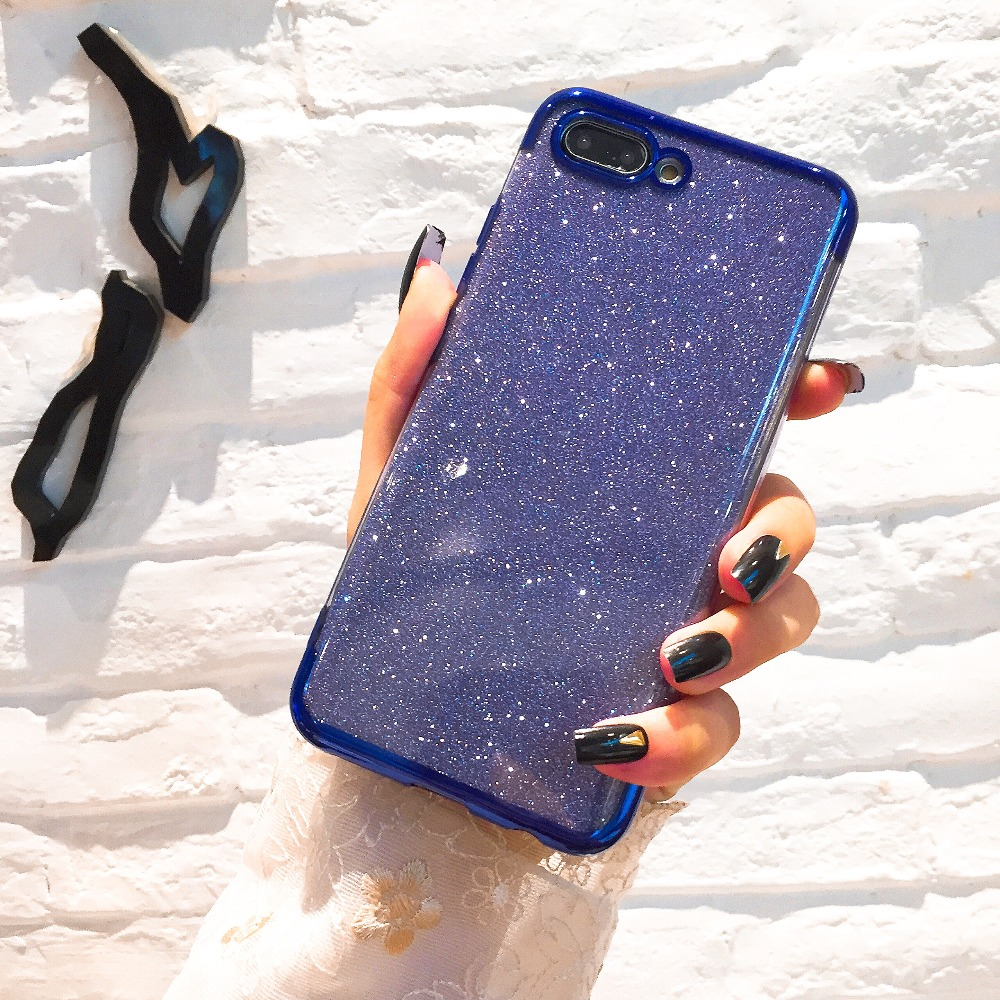 Glitter Bling Phone Cases for Huawei Mate 20 <font><b>Lite</b></font> X P Smart 2019 Plating Soft TPU Case on <font><b>Honor</b></font> 8X 7A 7C 10 <font><b>9</b></font> P30 P20 Pro <font><b>Lite</b></font> image