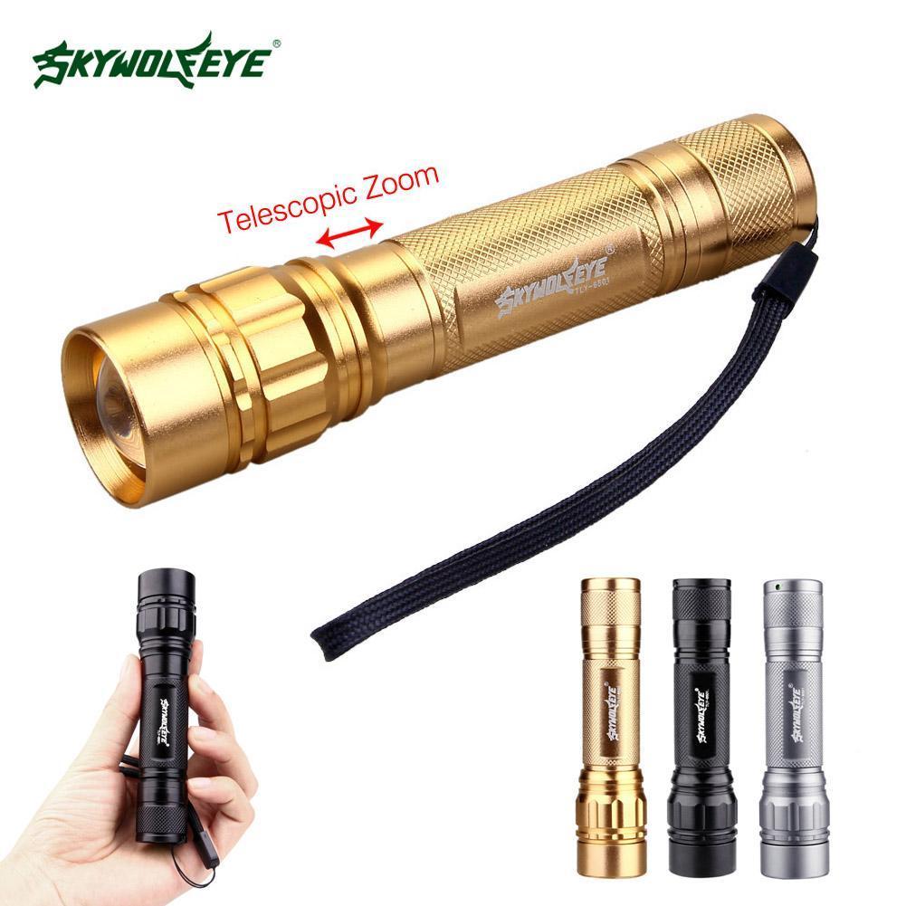 SKYWOLF 50000LM LED Flashlight Zoom Super Bright Mini Torch Outdoor Camp