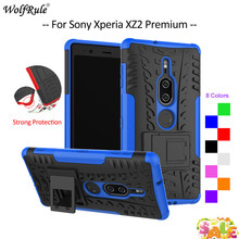 For Cover Sony Xperia XZ2 Premium Case TPU&PC Holder Armor Bumper Protective Phone Case For Sony Xperia XZ2 Premium Cover 5.8'' protective tpu pc bumper frame case for sony xperia z3 blue black