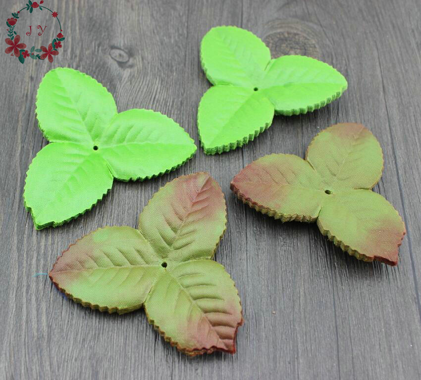 50pcs Artificial Leaf Leaves Flower Bouquet Garland Wreath Cap Decoration Craft