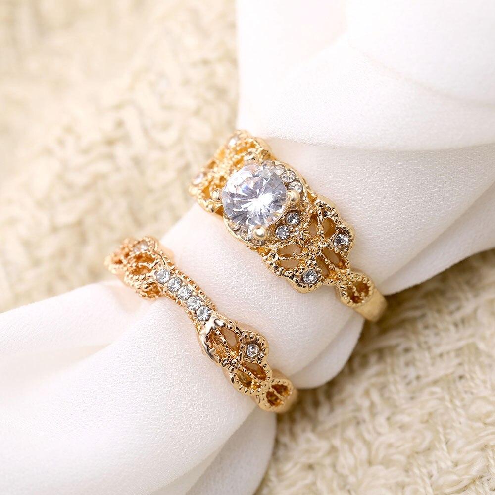 Модные женские обручальные кольца из розового золота с инкрустированным цирконием, обручальное кольцо с бантом, стразы, Женские Ювелирные изделия
